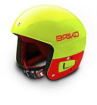Briko Vulcano FIS 6.8 JR - Kinder-Skihelm, Yellow/Orange