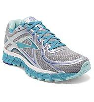 Brooks Adrenaline GTS 16 - scarpa running donna, Silver/Light Blue
