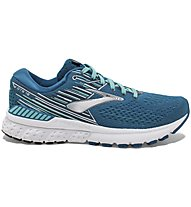 Brooks Adrenaline GTS 19 W - scarpe running stabili - donna, Blue/Light Blue