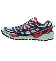 Brooks Cascadia 9 W, Yucca/Obsidian/Hibiscus