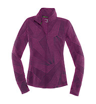 Brooks Dash 1/2 Zip, Heather Currant/Big Sunshine