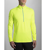 Brooks Dash 1/2 Zip Laufshirt Langarm Herren, Yellow