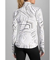 Brooks Dash 1/2 Zip W - Laufshirt Langarm Damen, White
