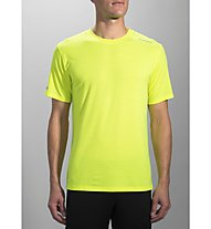 Brooks Distance Short Sleeve - maglia running, Yellow