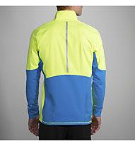 Brooks Drift 1/2 Zip - Pullover mit Reißverschluss Running - Herren, Yellow/Blue