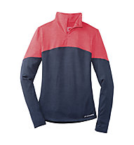 Brooks Essential 1/2 Zip III W - maglia running donna, Navy/Pink