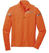 Brooks Essential 1/2 Zip Runningshirt, Brite Orange/Anthracite