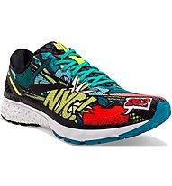 Brooks Ghost 11 NYC Marathon W - scarpe running neutre - donna, Light Blue/Yellow