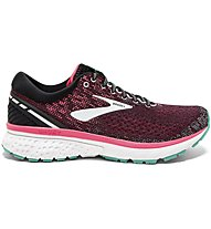 Brooks Ghost 11 W - scarpe running neutre - donna, Black/Pink