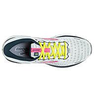 Brooks Ghost 13 - Neutrallaufschuh - Damen, White/Pink/Yellow/Blue