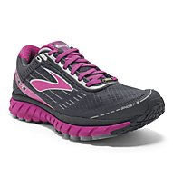 Brooks Ghost 9 GTX W - scarpa running GORE-TEX donna, Grey/Pink