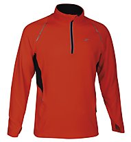 Brooks Nightlife Infiniti 1/2 Zip, Brite Orange/Anthracite