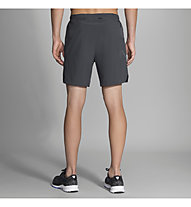 "Brooks Sherpa 7"" 2-in-1 - pantaloni corti running - uomo, Dark Grey"