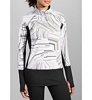 Brooks Threshold Long Sleeve W Laufshirt Langarm Damen, White/Black