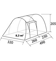 Brunner Arqus Outdoor 5 - Campingzelt, Grey