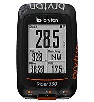 Bryton Rider 330T GPS-Radcomputer + Herzfrequenzsensor + Trittfrequenzsensor, Black