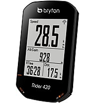 Bryton Rider 420 T - computer bici, Black
