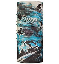 Buff CoolNet UV+ Multifunctional - scaldacollo - bambino, Black/Light Blue/White