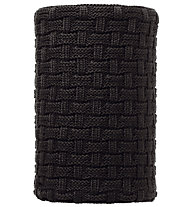 Buff Knitted & Polar Fleece Neckwarmer Airon - Scaldacollo, Black