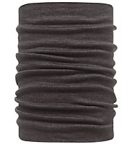 Buff Merino Wool Neckwarmer Buff Black Scaldacollo, Black