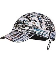 Buff Run - Schirmmütze, White/Black/Light Blue