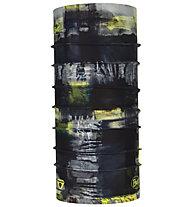 Buff Thermonet - Halswärmer, Black/Grey/Yellow