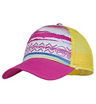 Buff Trucker - Kinderkappe, Pink/Yellow