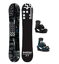 Burton Set Snowboard Amplifier Wide + Snowboard-Bindung