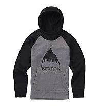 Burton Boys' Bonded - Kapuzenpullover - Kinder, Grey/Black