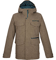 Burton Covert Slim - Snowboardjacke mit Kapuze - Herren, Dark Brown/Green