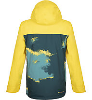 Burton Covert Slim - Snowboardjacke mit Kapuze - Herren, Light Blue/Yellow