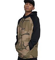 Burton Crown Weatherproof Fleece - maglioni con cappuccio - uomo, Brown/Black