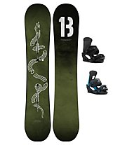 Burton Set Snowboard Descendant Wide + Snowboard-Bindung