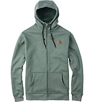 Burton Distill Full-Zip giacca, Duck Green Heather