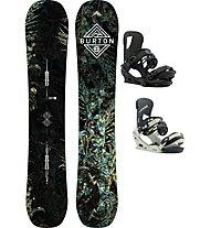 Burton Set Snowboard Flight Attendant Wide + Snowboard-Bindung