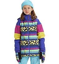Burton Hart Girl - Snowboardjacke - Mädchen, Light Blue/Yellow/Pink
