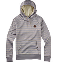 Burton Heron Pullover Hoodie Damen, Dove Heather Hatch Stripe
