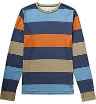Burton Lightweight Crew maglia manica lunga, Team Blue Pop Stripe