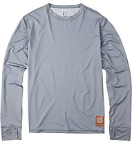 Burton Lightweight Crew maglia manica lunga, Heather Gray