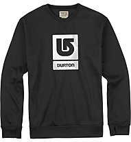 Burton Maglia manica lunga Oak Crew, True Black Heather