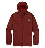 Burton Oak Full Zip Hoodie - Kapuzenjacke - Herren, Dark Red