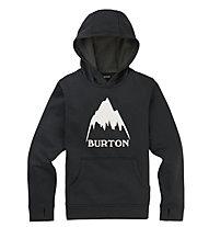 Burton Oak Pullover - felpa con cappuccio - bambino, Black