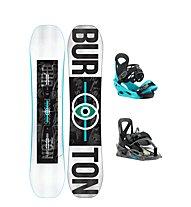 Burton Set Snowboard  Process Smalls + Snowboard-Bindung