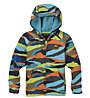 Burton Toddler Crown Bonded Full-zip - felpa con zip - bambino, Light Blue/Orange/Green