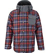Burton TWC Primetime giacca snowboard, True Black Saddle Plaid/Bog