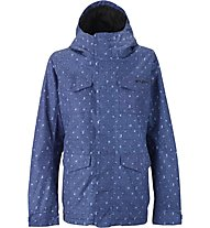 Burton TWC Search and Enjoy Snowboardjacke Damen, Denim Flash Print