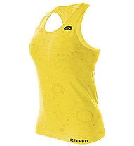 BV Sport Keepfit Melange - top running - donna, Yellow