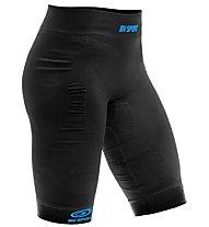 BV Sport Quadshort CSX - Laufhose komprimierend - Damen, Black/Blue