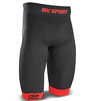 BV Sport Quadshort CSX - pantaloni running a compressione - uomo, Black/Red