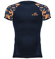 BV Sport Rtech - maglia running a compressione - uomo, Blue/Orange